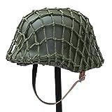 ANQIAO WW2 WWII German Soldier M35 Helmet Steel...