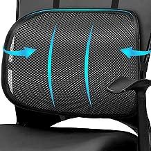 Easy Posture Lumbar Back Support Mesh, Non Slip Double Lock Strap Design (Black Mesh, 1PC, 2PC)