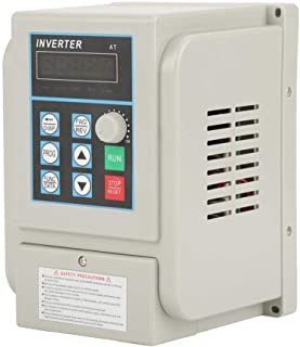VFD Single to 3 Phase,4kW 220V AC Single-Phase Variable Frequency Drive Inverter, VFD Speed Controller Inverter for 3-Phase Motor