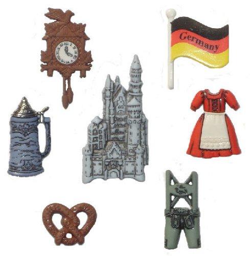 Allemagne Fantaisie Décorations Craft Boutons et en Robe IT Up