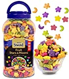 Breakfast Cereal Multigrain Fruit Stars & Moons (Snack with Oats Rice Corn High Fibre Froot Loops Cereal) Jar 325 g