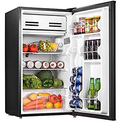 AICOOK Mini Fridge 3.3 Cu.Ft (93L) Compact Refrigerator with Small Freezer Drinks Food Beer Storage for Bedroom Office or Dorm, Energy Star Rating with Adjustable Temperature, Removable Shelves