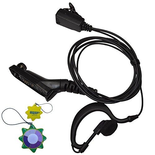 HQRP Microfono auricolare cuffia PTT a forma di G per Motorola DP4601, DP4800, DP4801, XPR6300 + HQRP Misuratore del sole