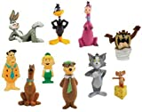 Classic Cartoon Charater Mini Figure Vending Toy Set of 10 with Tom and Jerry, Fred Flintstone, Yogi Bear, Bugs Bunny and more.