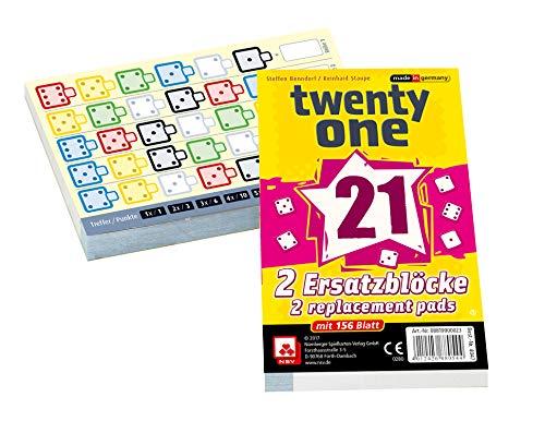 NSV - 4047 - Twenty ONE - Ersatzblöcke 2er Set - Würfelspiel