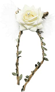LOVIVER Artificial Rose Wrist Corsage Bridal Bracelet Wedding Sister Hand Flowers - Cream, as described