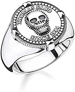 Thomas Sabo Herren-Ringe 925_Sterling_Silber mit - Ringgröße 52 TR2210-637-21-52