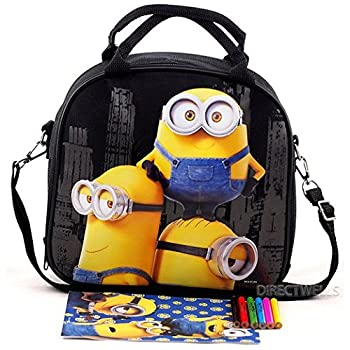 Licensed Despicable Me Minions Insulated Kids Lunch box Bag Food container Pail.