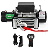 Powersports Winch for Jeep, OFF ROAD BOAR 12V DC Electric Winch Kit for ATV/UTV, 13000Lb. Load Capacity IP67 Waterproof Towering Winch with Steel Wire Rope, Wireless/Hand Remote Controller