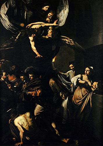 Caravaggio, (Michelangelo Merisi da): The Seven Works of Mercy. Religious Fine Art Print/Poster. Size A1 (84.1cm x 59.4cm)