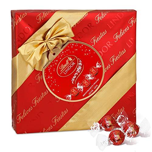 Lindt Lindor Caja de Regalo de Bombones de Chocolate con Leche - Aprox. 22-23 Bombones, 287g