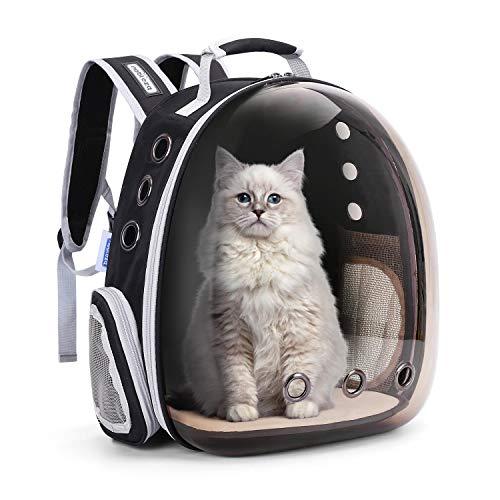 Nobleza Mochila para Transportar Mascotas, Bolsa Transporte para Perros Gatos, Transparente, portátil, Transpirable e Impermeable, Especialmente diseñado para Viajes, excursiones y Uso al Aire