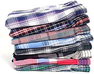 TYML, 5 Piezas Ropa Interior para Hombre Boxers Shorts Algodón Casual Calzoncillos para Dormir Calidad a Cuadros Suelto Cómodo Ropa de hogar Rayas Flecha Bragas