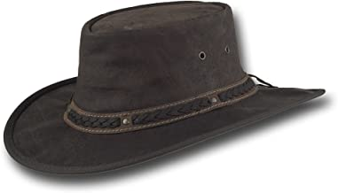 Barmah Hats Crackle Kangaroo Leather Hat - Item 1018