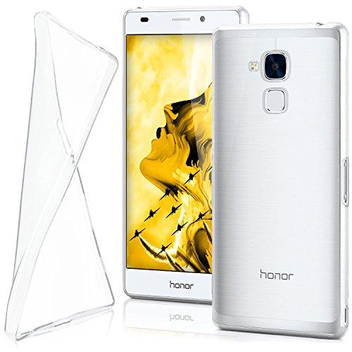 MoEx® AERO Hülle Transparente Handyhülle passend für Huawei Honor 5C | Hülle Silikon Dünn - Handy Schutzhülle, Durchsichtig Klar