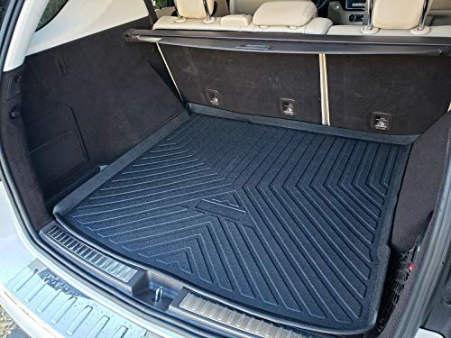 Rear Trunk Liner Tray Mat Pad for MERCEDES-BENZ ML-CLASS SUV 2012 2013 2014 2015 Floor Cargo Cover Tray Protection Dirt Mud Snow All Weather Season Waterproof 3d Laser Measured Custom Fit