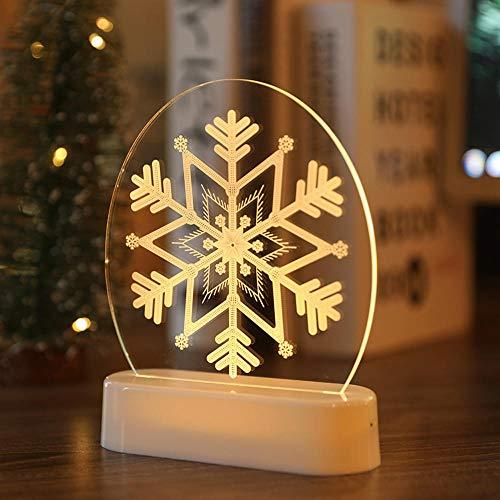 Weihnachten Weihnachtsmann Acryl 3d Nachtlampe für Kinder Schlafzimmer Dekor Raum Lichter Dekor NachtlichterWeihnachtsschmuck Navidad