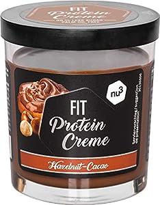 Fit Protein Crema Fitness - 200g crema de chocolate y avellanas sin azúcar - Sin aceite de palma ni gluten - 90% menos azúcar - 21% de proteína - Alternativa proteica baja en carbohidratos - de nu3
