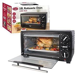 Quest Benross Mini Oven with Rotisserie, 18 Litre, 1280 Watt