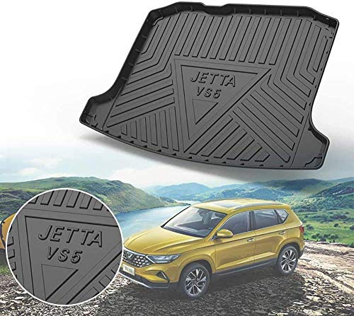 QWEAS for Volkswagen Jetta VS5 2019 Trunk Mats Custom Cargo Liner All Weather Trunk Protection Floor Mats Waterproof Dust-proof Anti-scratch Pad Odorless