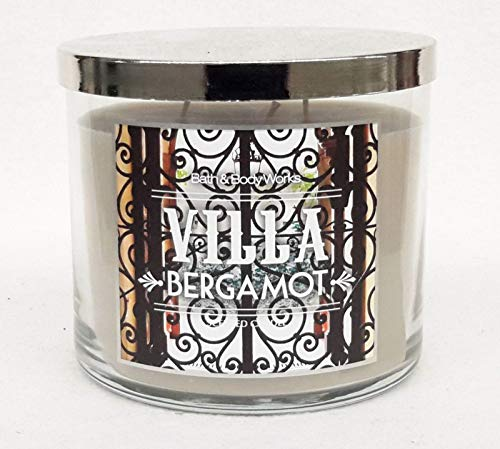Bath and Body Works White Barn Villa Bergamot Candle 3 Wick 14.5 Ounce