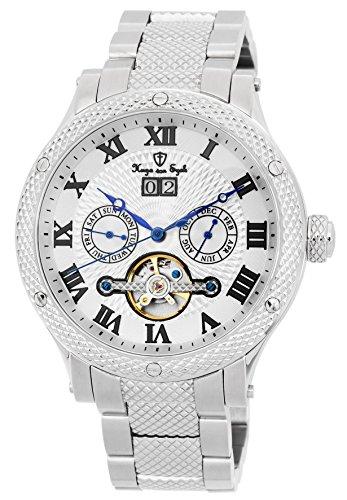 Hugo von Eyck Armbanduhr für Herren mit Analog Anzeige, Automatik-Uhr mit Edelstahl Armband - wasserdichte Herrenuhr mit zeitlosem, schickem Design - Klassische Uhr für Männer - HE212-111 Antila