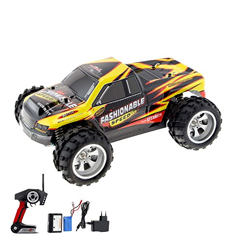 HSP Himoto 1:18 Elektro Off-Road RC Ferngesteuerter Monstertruck Modell mit LiPo-Power, 4WD Antrieb, Digital vollproportionale Steuerung Top-Speed bis zu 35 km/h, Komplett-Set RTR