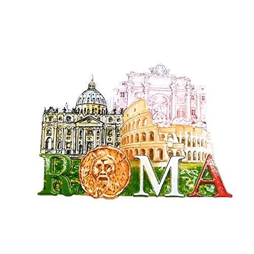 Imán para nevera en 3D con diseño de Roma Italia, para decoración del hogar y la cocina, imán magnético para nevera