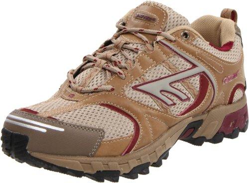 Hi-Tec Athletic Women's Cortina Trail Running Shoe,Taupe/Berry,7 M US
