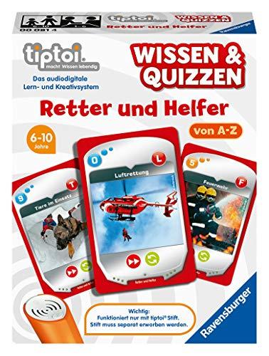 Ravensburger tiptoi 00081 Wissen und Quizzen: Retter und Helfer, Quizspiel für Kinder ab 6 Jahren, für 1-6 Spieler