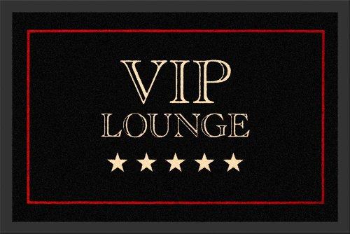 Empire Merchandising 623164VIP Lounge, Felpudo, tamaño 60x 40cm, Polipropileno, Color Negro