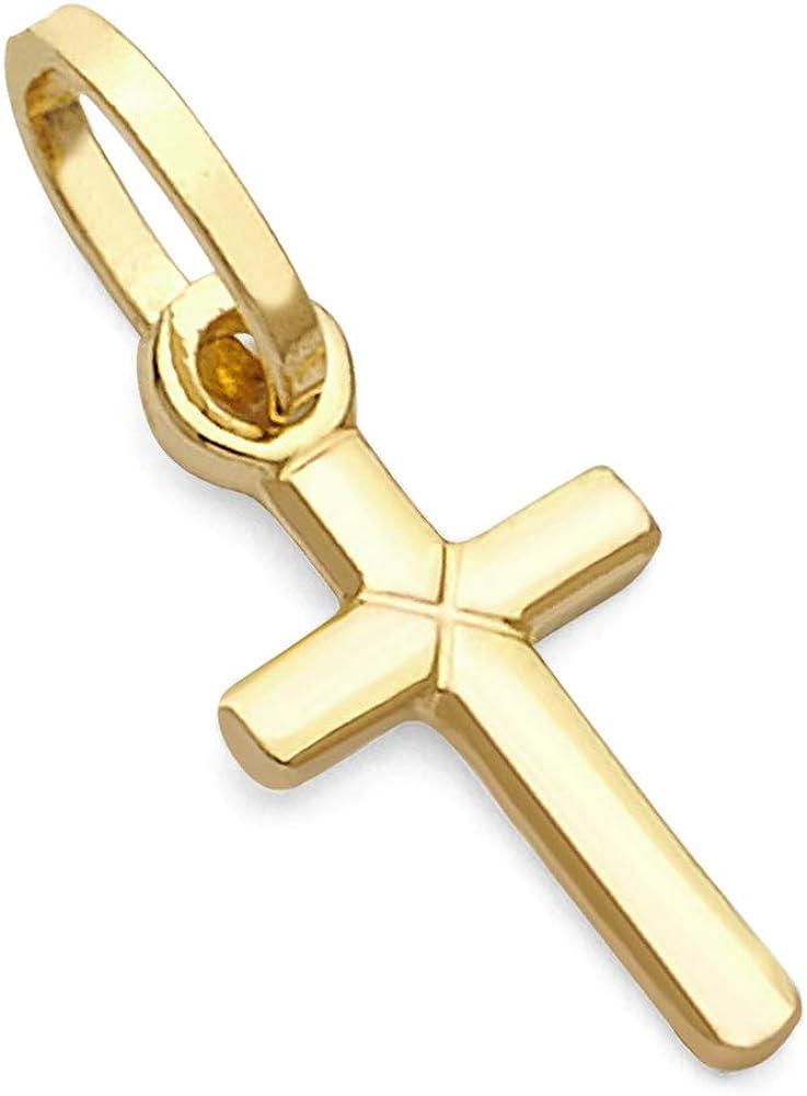 14k Rare REAL Yellow Max 57% OFF OR White Gold Latin Cross Penda Tiny Charm Style