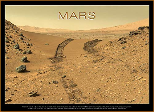 NASA's Curiosity Mars Rover Poster, Paper Or Canvas, Mars Poster Nature Art Print, Mars NASA Print Space Decoration, Rover Curiosity Space Themed Decor