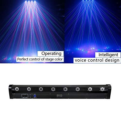 ✨ Bühnenparty-Lichter 8-Loch-Glow-Disco-Licht 180 ° drehbarer Prom-Projektionseffektlichtstrahl Bühnenlampen (Farbe : Full Color)