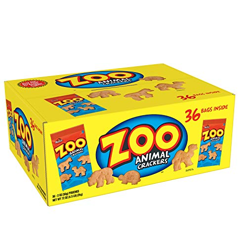 Austin Zoo Animal Crackers, 2-Ounce Packages (Pack of 36)