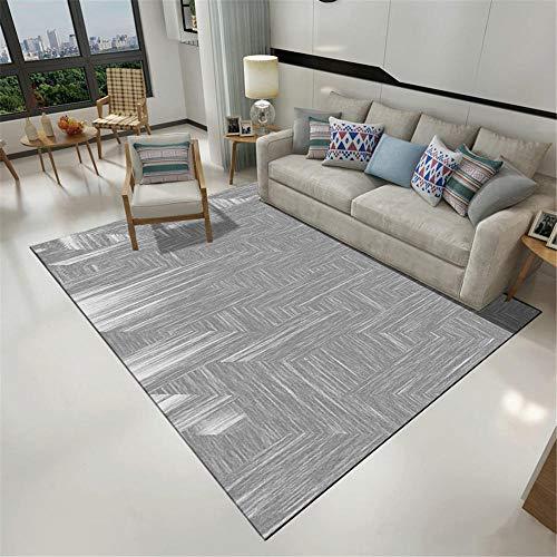 AU-SHTANG goedkope tapijten Grijs inktpatroon ontwerp tapijt, slijtvast, onderhoudsvriendelijk, vlekbestendig en comfortabel tapijt tapijt groot -grijs_140x200cm