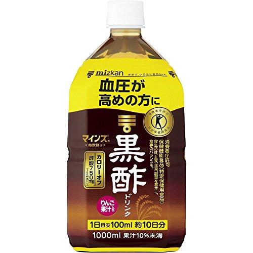 ミツカン マインズ 毎飲酢 黒酢ドリンク 特定保健用食品(トクホ)【特保】 1Lペットボトル×6本入 1ケース