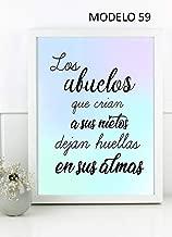 Cuadro personalizado con frase para LOS ABUELOS .Elige tama/ño color del marco y modelo Regalo//Bodas//San Valent/ín//Cumplea/ños//Ella//Aniversario