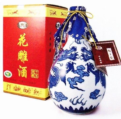 越王台 陳年10年花彫酒 (白磁) 500ml
