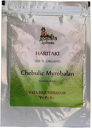 Haritaki (Terminalia chebula) en polvo, Nutriente cerebro y sistema nervioso, regenerador colón y pulmones, Certificadico LACON GmbH en Europa,en polvo 250 gr