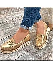 LIZONGFQ 2021 Vrouwen Slip on Sneakers Ondiepe Loafers Gevulkaniseerde Schoenen Ademend Casual Dames Schoenen Vrouw Plus Size, Goud, 35