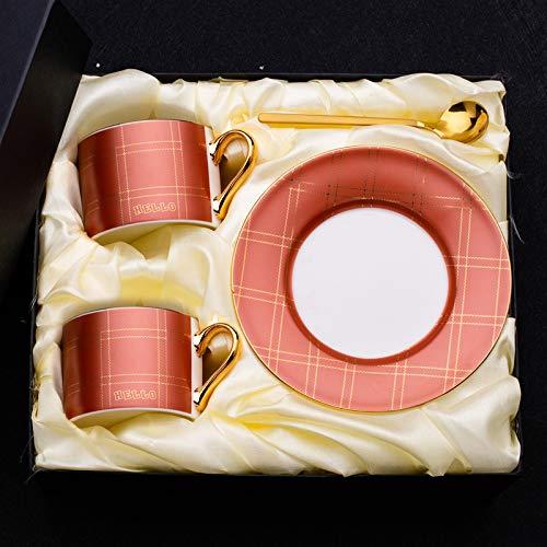 HRDZ Kreative High-End-Kaffeetasse und Untertasse kleine Keramik-Rührbecher kleine zarte Nachmittagstee-Mark-Tasse