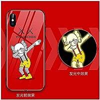 IPhone12/iPhone12miniガラスフィルム ブルーライトカット 強化ガラス 液晶保護フィルム 0.3mm 超薄型 日本製素材旭硝子製【最强硬度9H /3D Touch対応/飛散防止/指紋防止/透過率99%/ 気泡ゼロ/貼付け簡単】,Red-IphoneXR