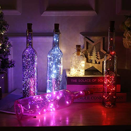 ZYR Mini LED Holiday String Lights Micro Waterproof Lamp Indoor Wedding Light for Home Decoration Christmas Glass Craft-Red,1m