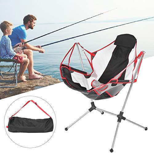 needlid Silla Plegable, mecedoras portátiles 900D Tela Oxford Silla de Playa con Carga de 100 kg Silla de Camping Plegable para Viajes al Aire Libre