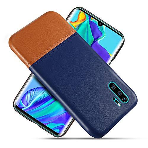 Suhctup Compatible con Huawei Mate 20 Lite Funda Cuero Calidad Ultrafina Estilosa Simple Empalme Estilo Carcasa de Piel Durable Antigolpes Antideslizante Protección Caso(Azul Marrón)
