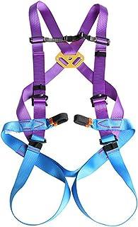 GBHJJ säkerhetsbälte fallskydd, höstskyddssele, 1 D-ring industriell anti-fall säkerhetsbälte, med buffertväska, bergsklät...