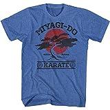 T-Shirt für Erwachsene, Motiv Karate Kid 1980er Martial Arts Movie Miyagi Do It Again - Blau - Large