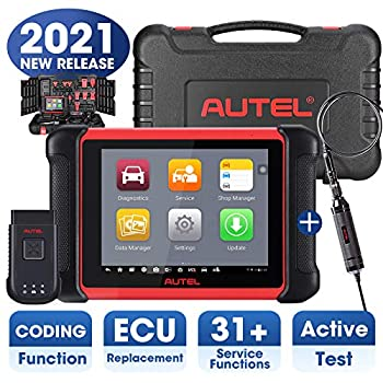 Autel MaxiCOM MK906BT Automotive Scanner with MV105 2021 Newest Version of Maxisys MS906BT/MS908/MK908 OBD2 Scan Tool with ECU Coding All System Diagnostics Bi-Directional Control 31+ Services
