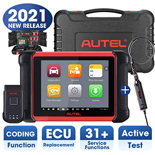 Autel MaxiCOM MK906BT Automotive Scanner with MV105, 2021 Newest Version of Maxisys MS906BT MS908 MK908, OBD2 Scan Tool with ECU Coding, All System Diagnostics, Bi-Directional Control, 31+ Services